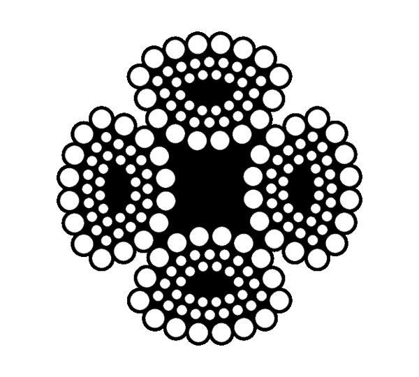 cáp thép khoan cọc nhồi 4×39