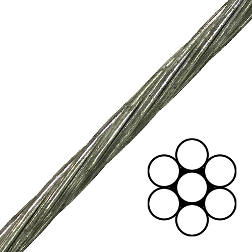 5 16 1x7 ehs galvanized cable ehsg5 16 58