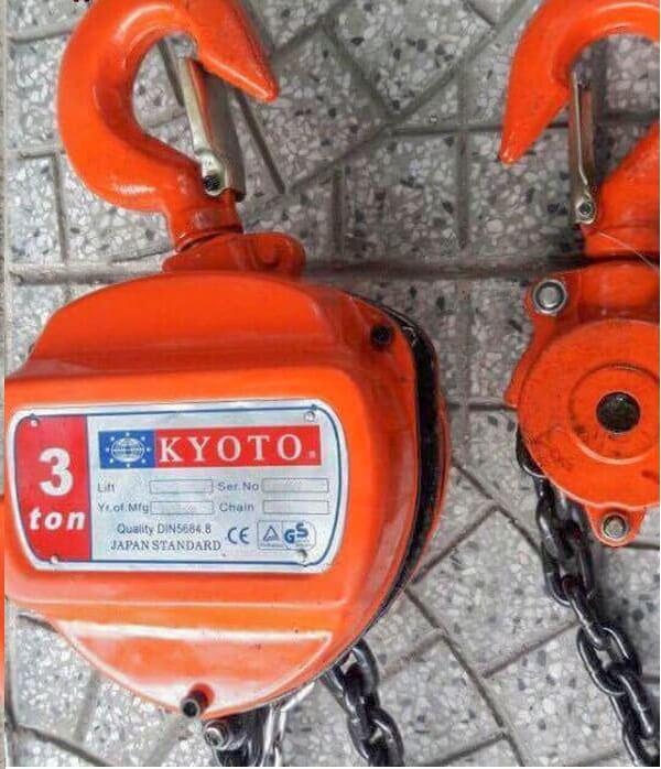 Pa lăng xích kéo tay kyoto 3 tấn